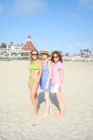 Jean, Sheila, and Nancy on the beach in Coronado 8-09